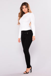 It's Necessary Ribbed Top - Ivory