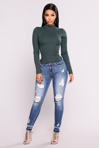 Rhea Long Sleeve Tee - Hunter Green