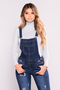 Finally Came Around Overralls - Dark Denim