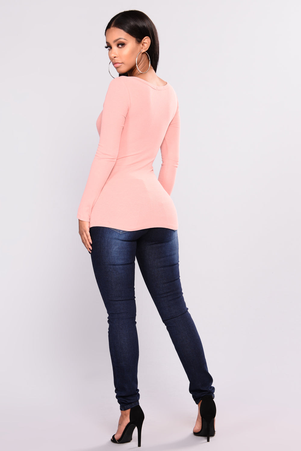 Hayley Henley Top - Mauve