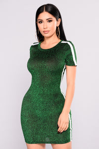 Albedo Dress - Green/White