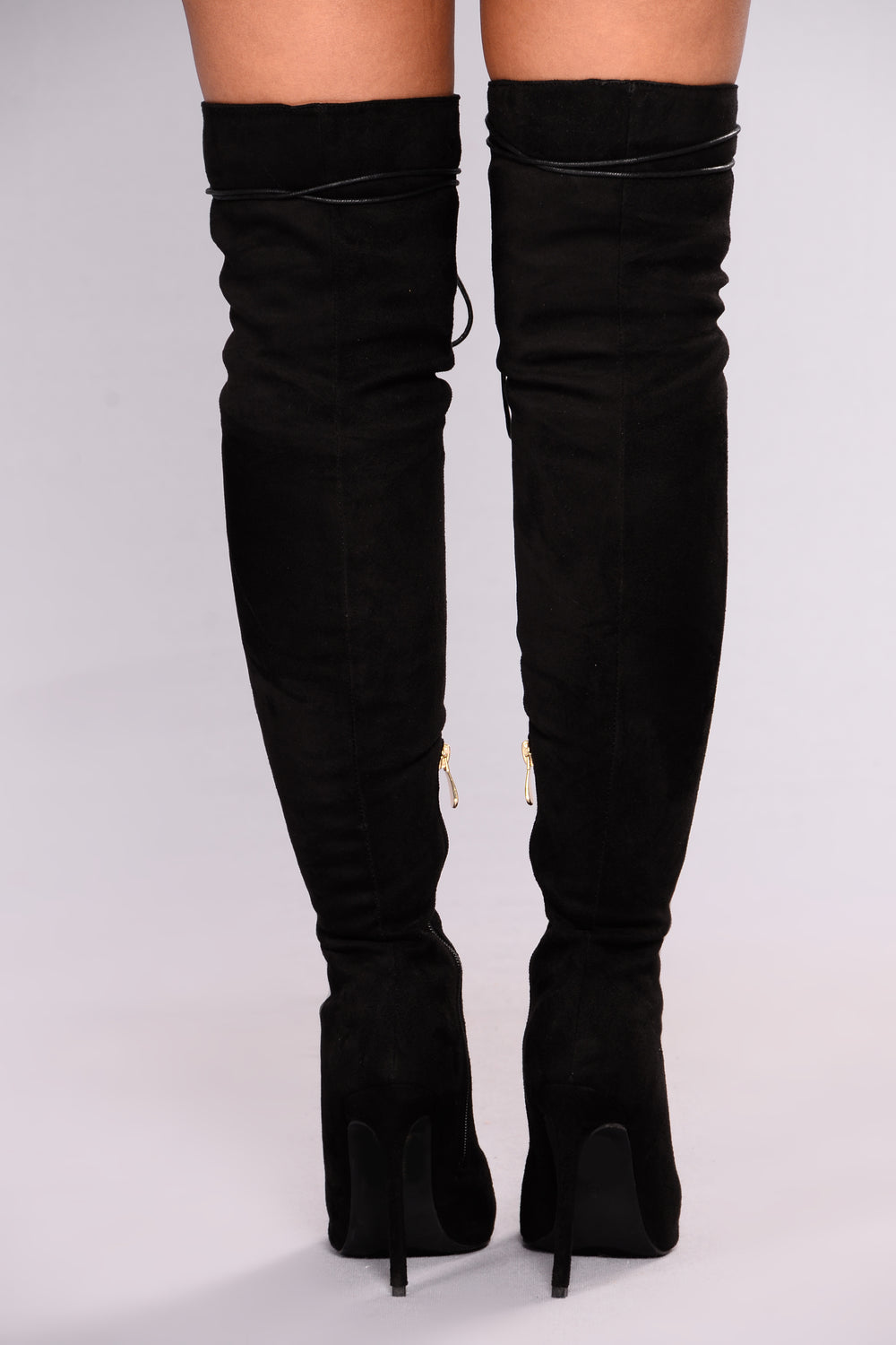 Alessa Over The Knee Boots - Black