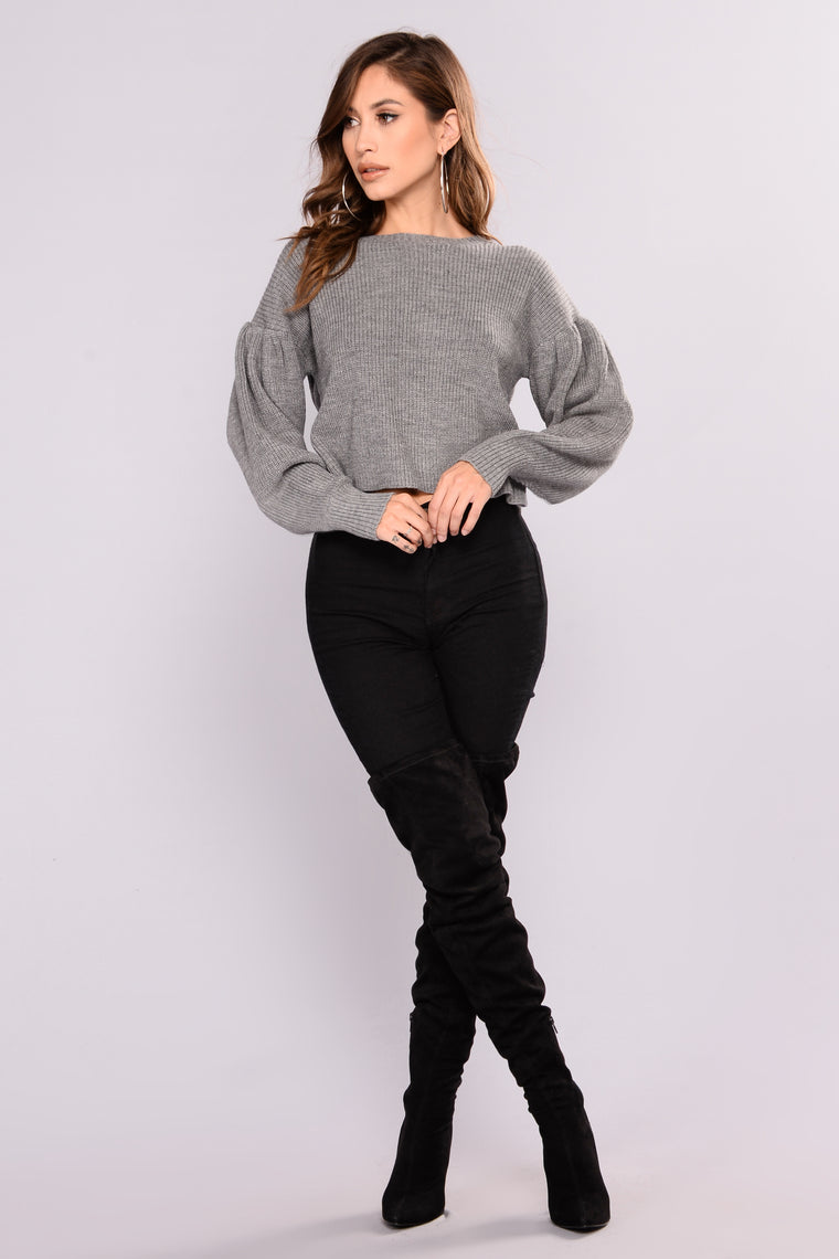 Andrea Sweater - Heather Grey