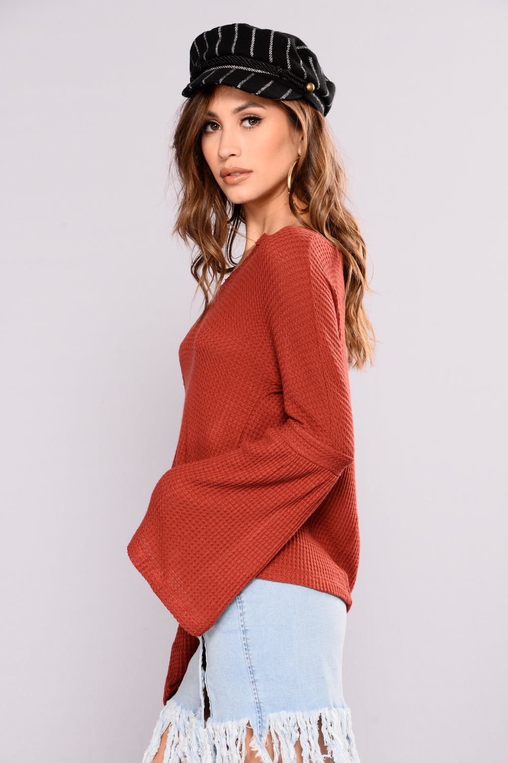 Amber Waves Top - Rust