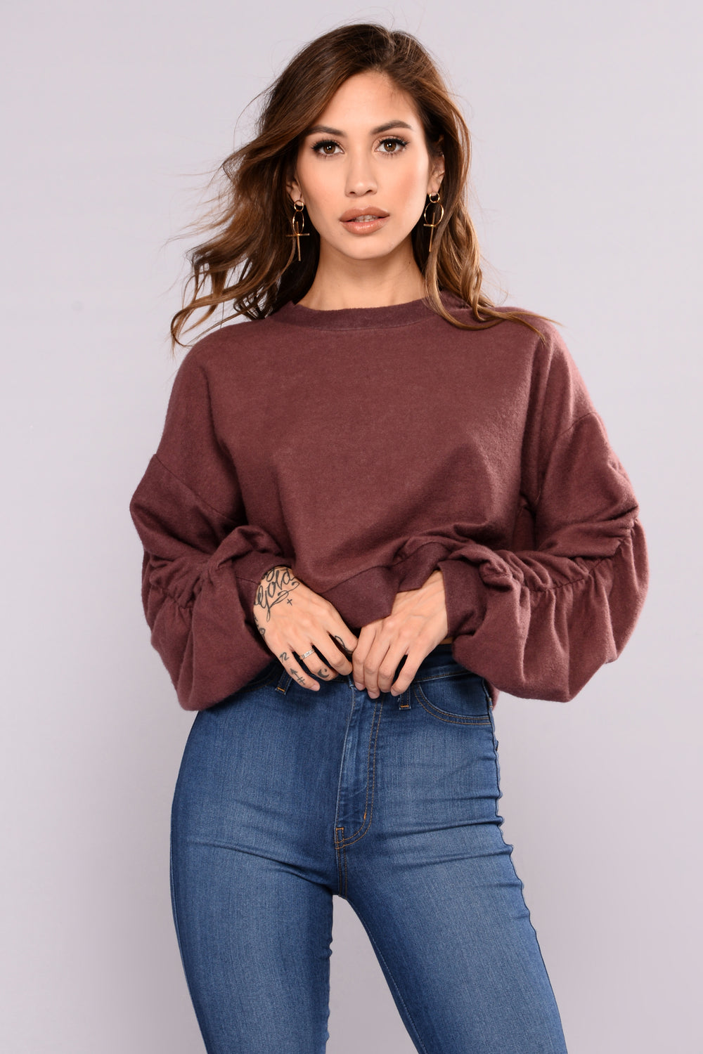 Mapleridge Sweater - Burgundy