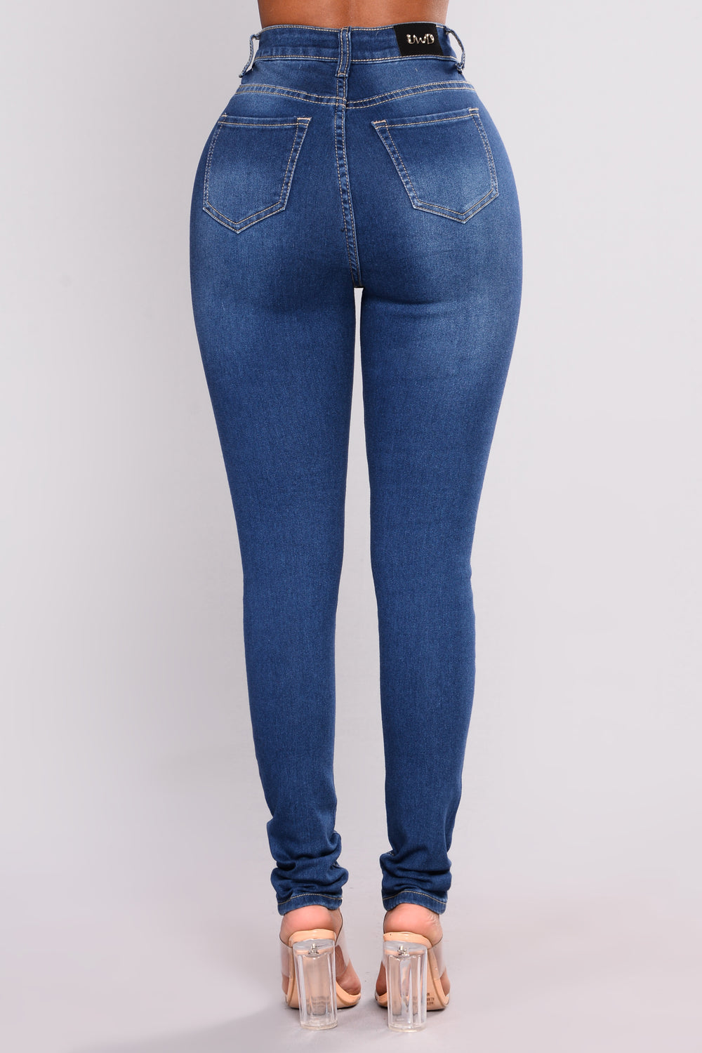 Guess Who Skinny Jeans - Medium Blue Wash