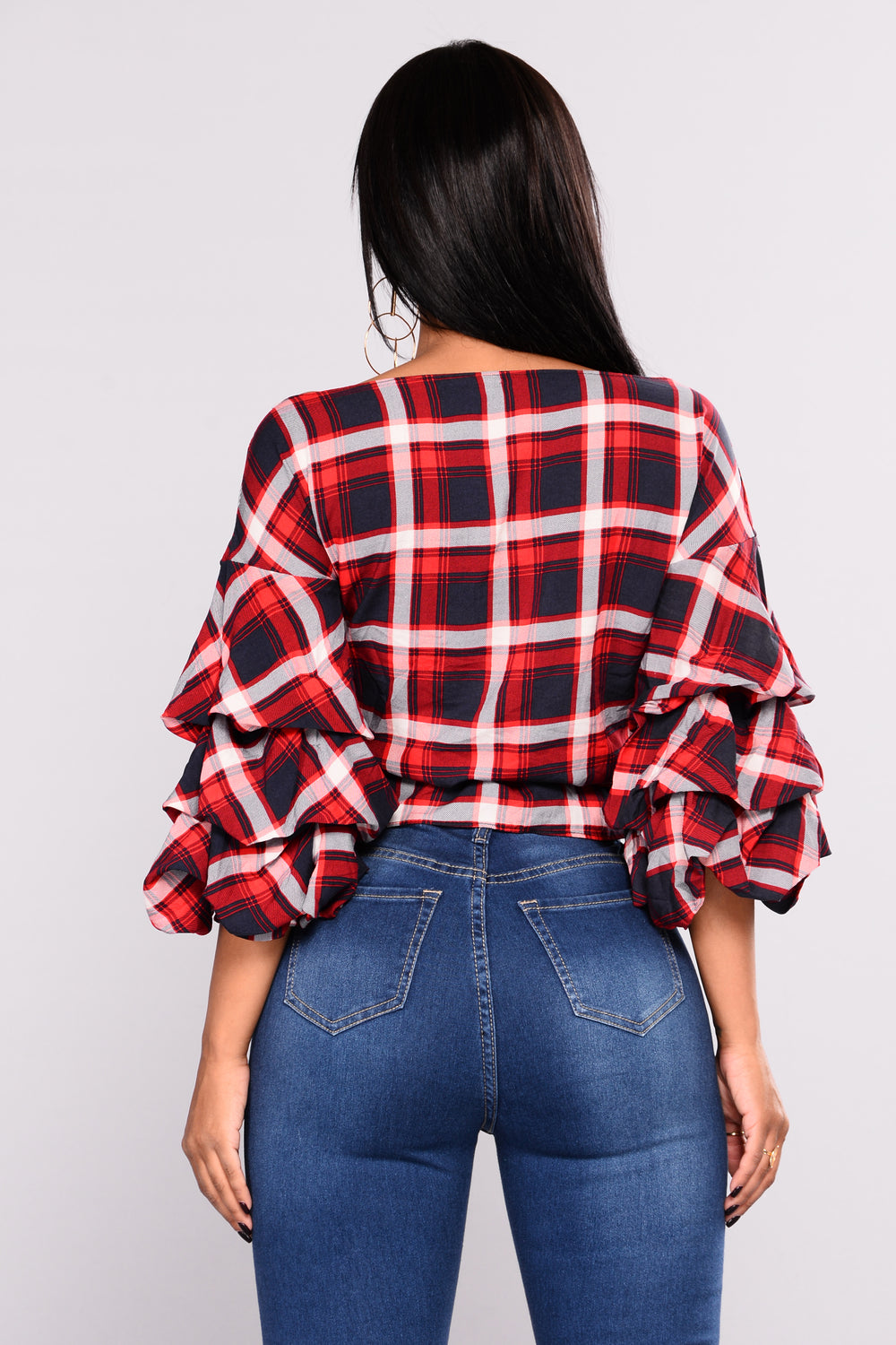 Plaid Red Flat Shoes Under  Size