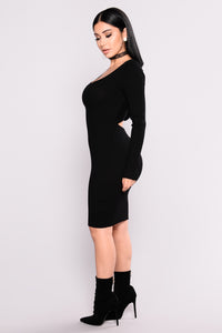 Zayla Knit Dress - Black
