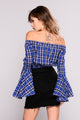No Doubt About It Plaid Top - Navy