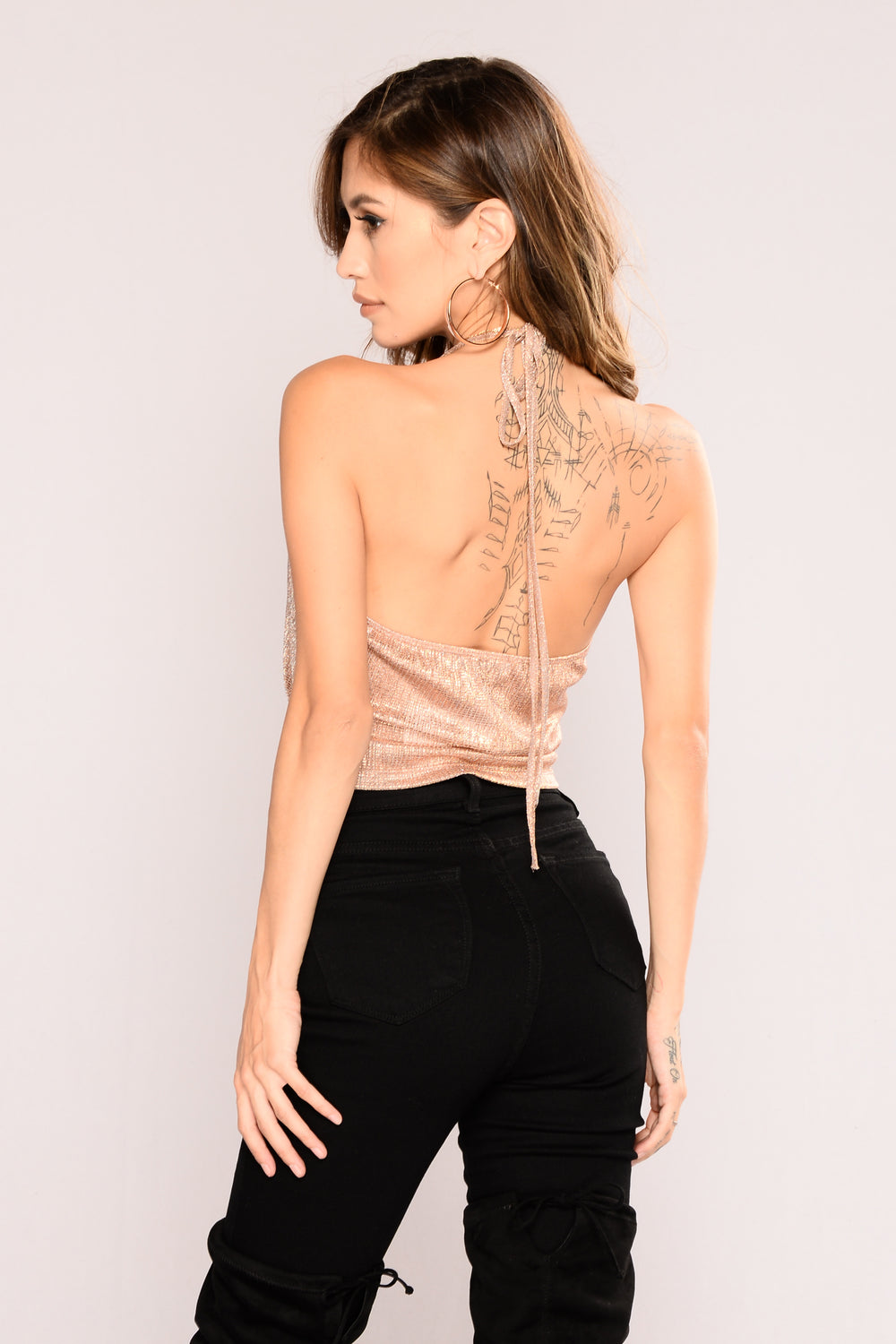 Night Out Crop Top - Rose Gold