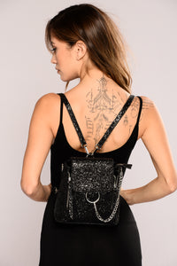 City Girl Glitz Backpack - Black