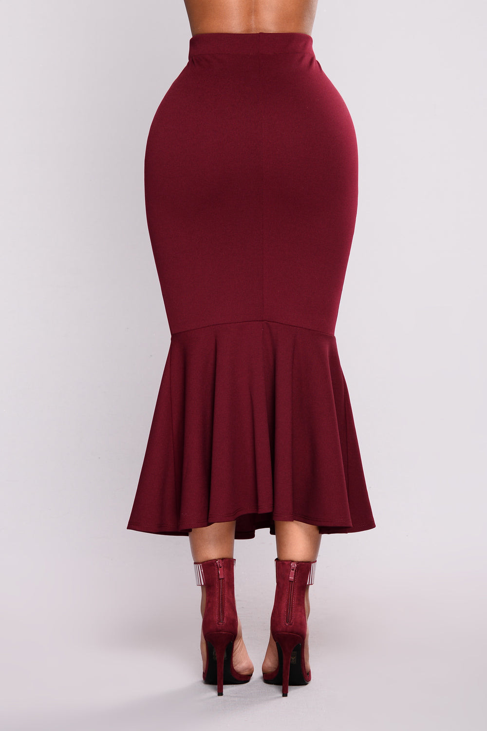 Twilight Ruffle Skirt - Oxblood