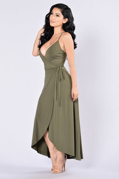 Wind it Up Dress - Olive