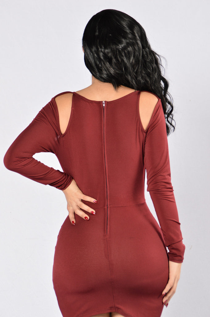 Treat You Better Dress - Burgundy