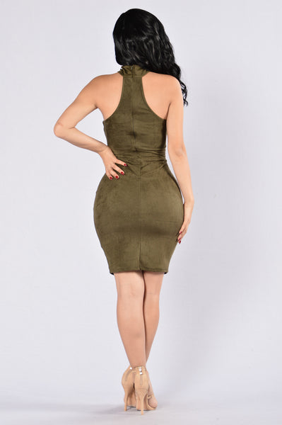 Case Of The Ex Dress - Olive