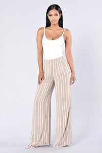 Island Girl Pants - Natural Stripe Angle 2