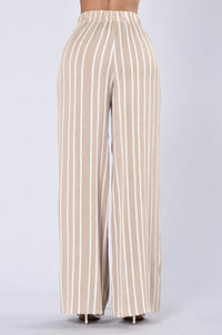 Island Girl Pants - Natural Stripe Angle 3