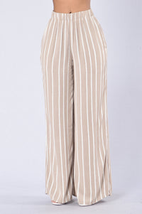 Island Girl Pants - Natural Stripe Angle 1
