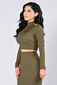 Peace Of Mine Top - Olive