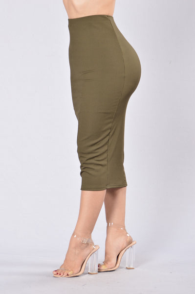 Peace Of Mine Skirt - Olive