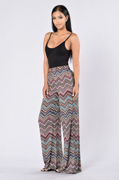 Island Girl Pants - Tribal Zigzag