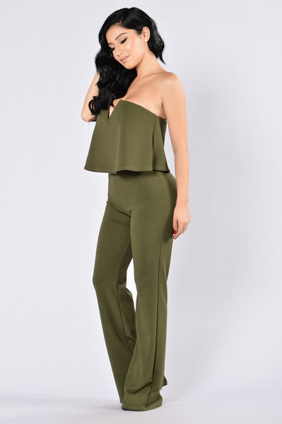 In Charge Jumpsuit - Olive