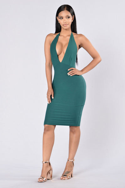 Bring It To A Halt Dress - Jade