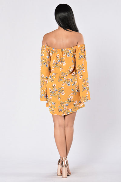 Saved By The Bell Dress - Mustard