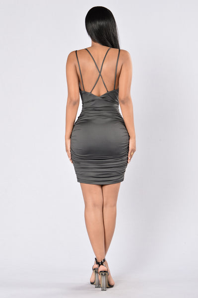 Love and Affection Dress - Charcoal