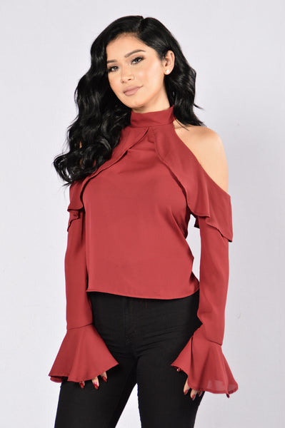Bell Of The Night Top - Burgundy