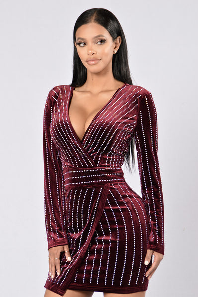 Starlet Dress - Burgundy