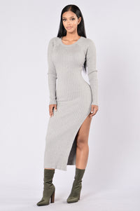 Linger Dress - Heather Grey