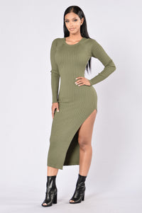 Linger Dress - Olive