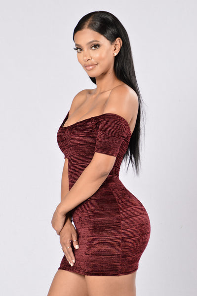 Into You Dress - Burgundy
