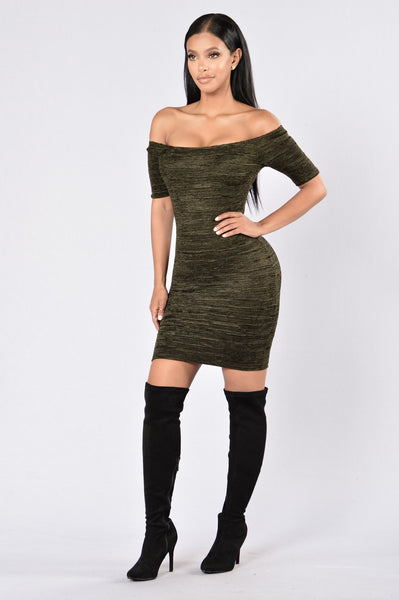 Into You Dress - Olive