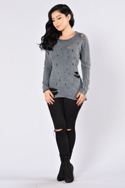 Grimm Top - Charcoal