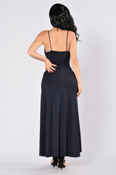 Wind it Up Dress - Navy