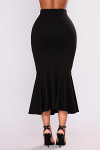 Twilight Ruffle Skirt - Black
