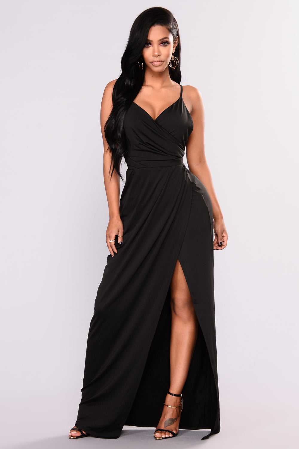 black dress with high slits rivka high slit dress black 9951