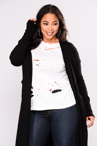 Tahlia Hooded Cardigan - Black Angle 10