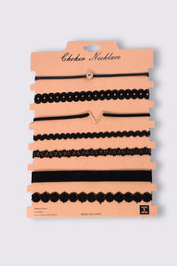 Sanna Choker Set - Black