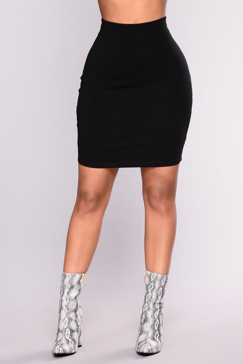 So Set Mini Ponte Skirt - Black