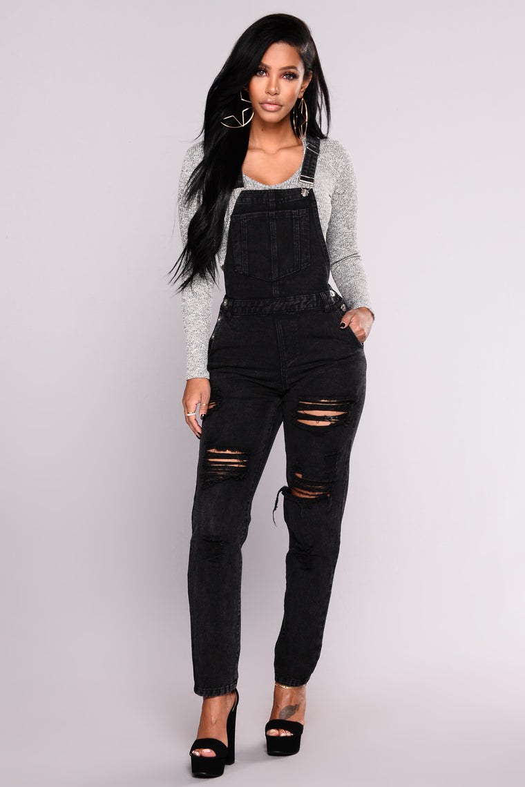 This Must Be It Overalls - Black