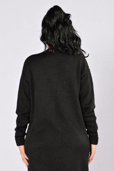 Not Letting Go Sweater - Black
