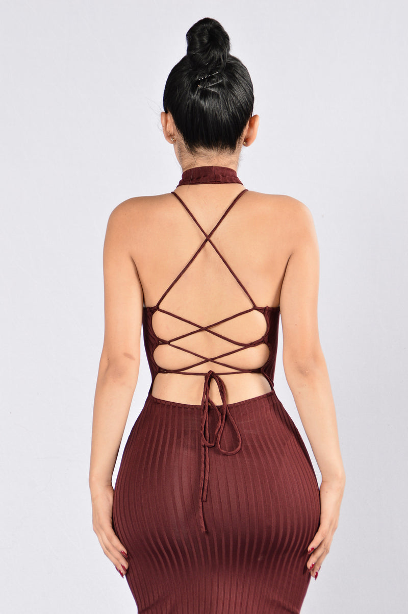 All Of Me Dress - Burgundy
