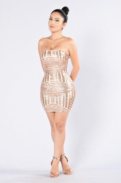 Breathtaking Dress - Rose Gold