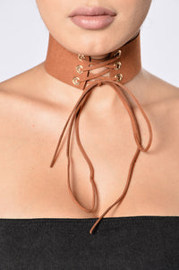 Get Like Me Choker - Tan