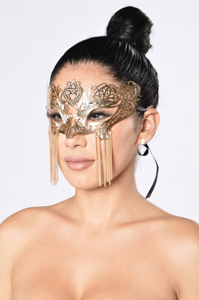 Masquerade Ball Mask - Gold