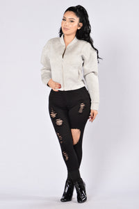 Two Face Jacket - Heather Grey