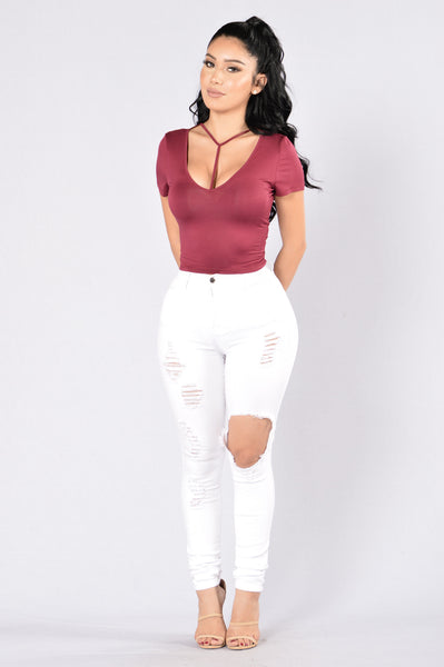 Harness My Heart Tee - Burgundy